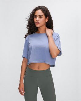 Light Cotton Running T-Shirt Crop Top