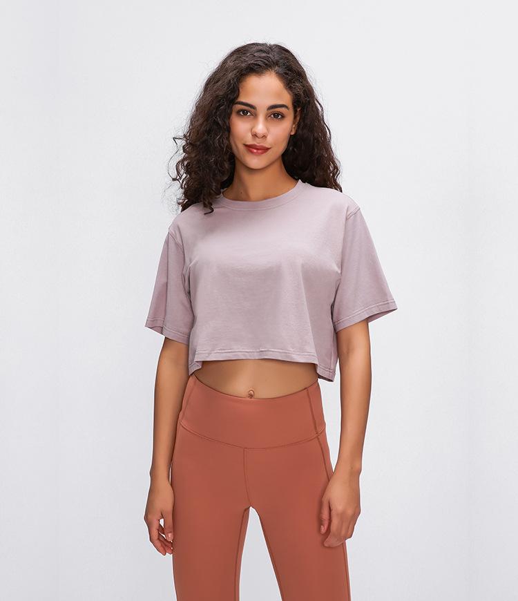 Light Cotton Running T Shirt Crop Top10