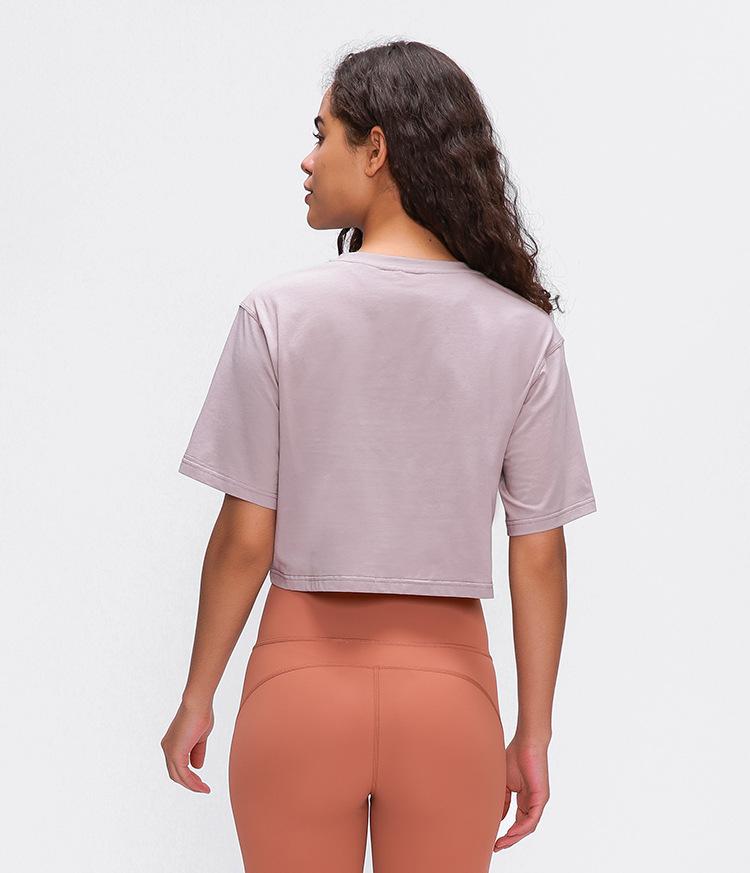 Light Cotton Running T Shirt Crop Top12