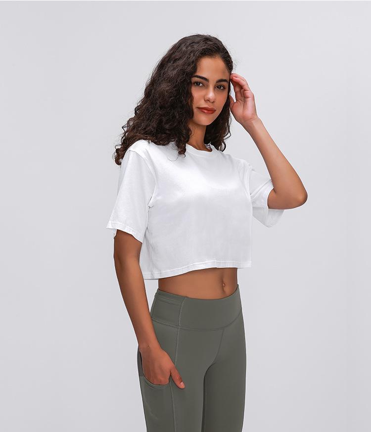 Light Cotton Running T Shirt Crop Top13