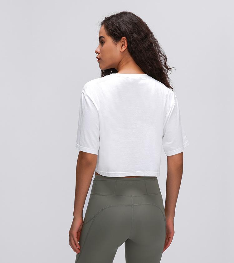 Light Cotton Running T Shirt Crop Top15