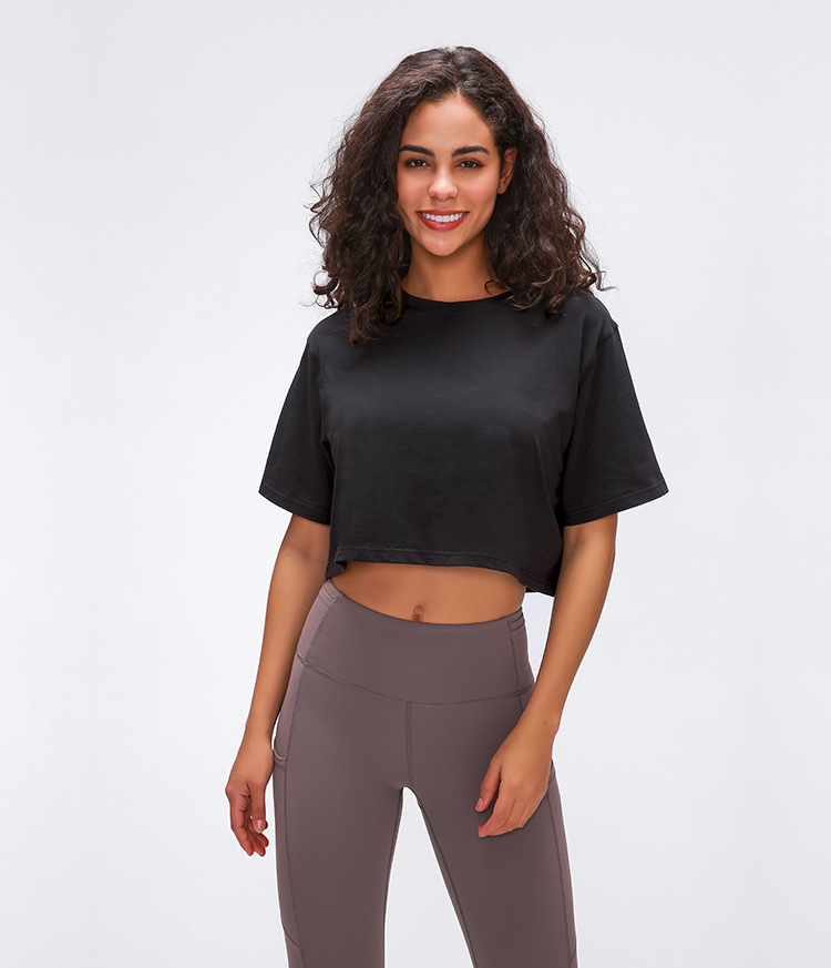Light Cotton Running T Shirt Crop Top16