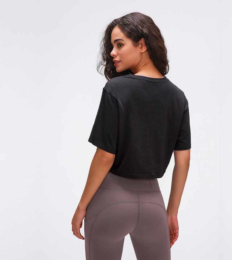 Light Cotton Running T Shirt Crop Top18