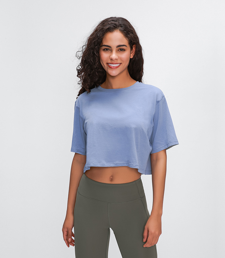Light Cotton Running T Shirt Crop Top4