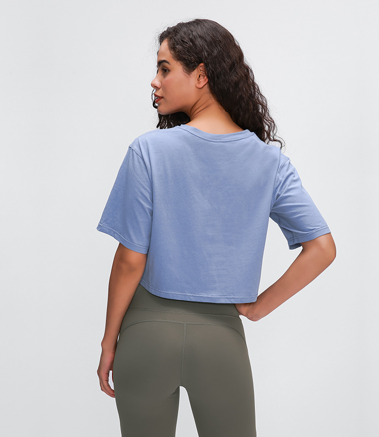 Light Cotton Running T Shirt Crop Top6