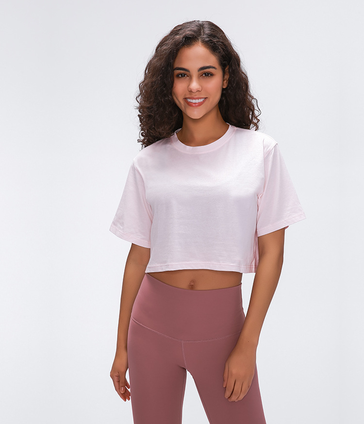 Light Cotton Running T Shirt Crop Top7
