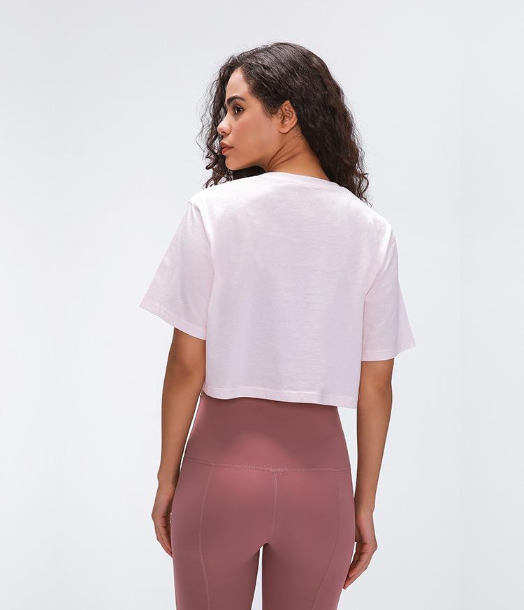 Light Cotton Running T Shirt Crop Top9