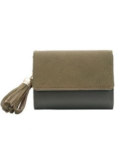 Multi-function Tassel Clutch Splicing Fashion Soft Square Wallet