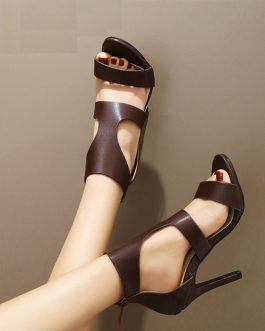Open Toe Stiletto High Heels Sandals