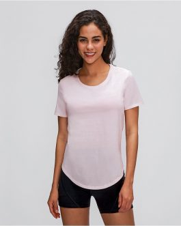Plain Cotton Yoga Exercise Workout T-shirt
