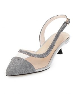 Pointed Toe Transparent Low Heels Sandal