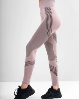 Running Contrast Color High Waist Yoga Leggings