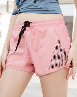Running Fake Two-Piece Drawstring Short Pants