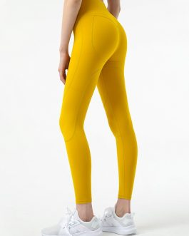 Running Pure Color High Waist Skinny Yoga Leggings