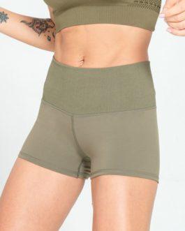 Seamless Waist Patchwork Sport Fitness Shorts