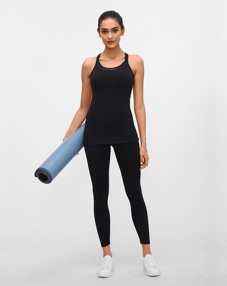 Soft Nylon Running Fitness Tank Tops14