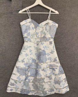 Spaghetti Strap Embroidery  Beading Boho Dresses