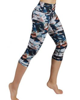 Sports Printed High Waist Capri Leggings
