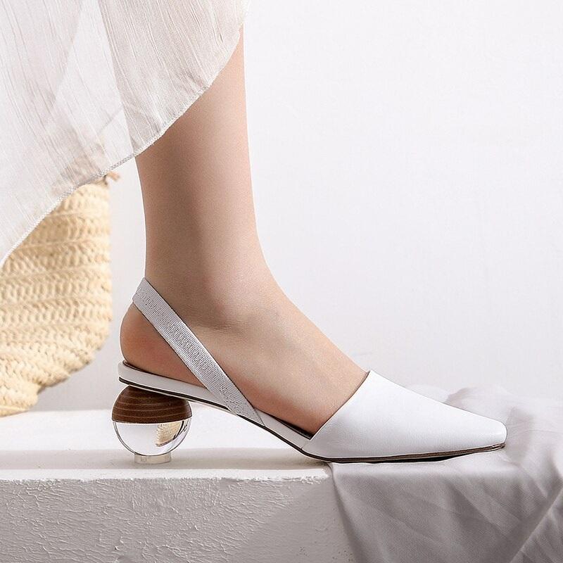 Strange Style Genuine Leather High Heels Sandals 9.2