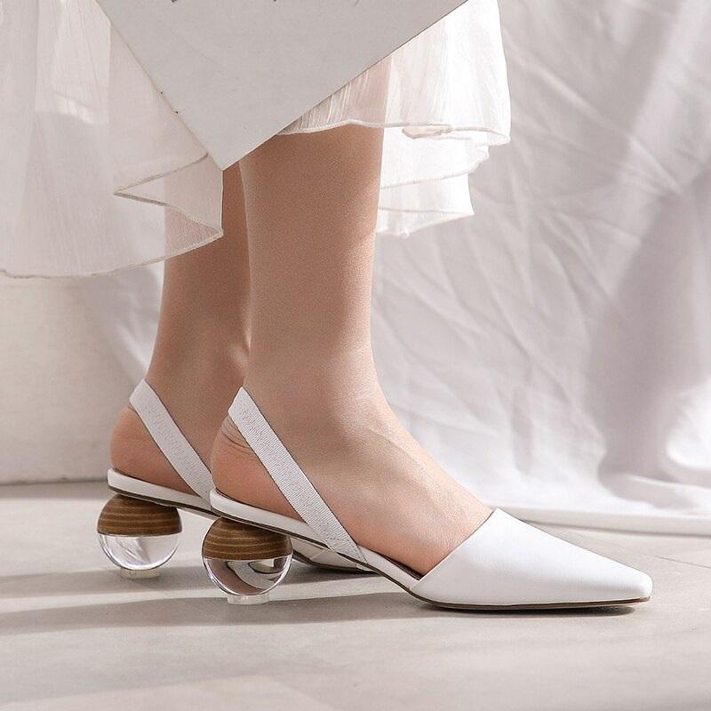 Strange Style Genuine Leather High Heels Sandals 9.4