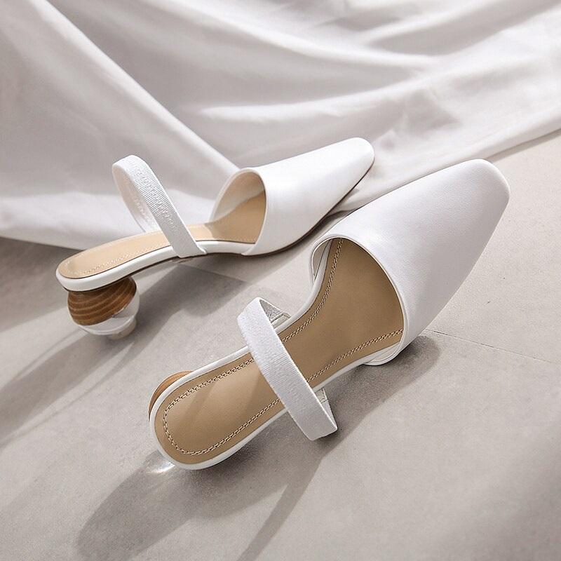 Strange Style Genuine Leather High Heels Sandals 9.5