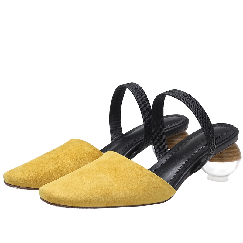 Strange Style Genuine Leather High Heels Sandals 9.8