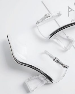 Strange Style Transparent High Heels Sandals