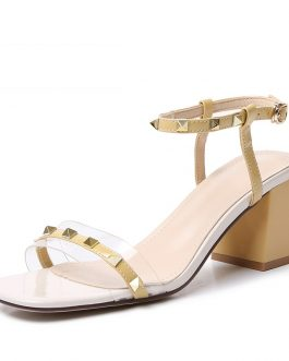 Transparent Office High Heels Sandals