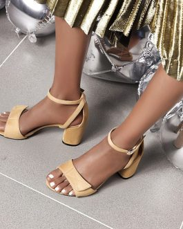 Thick High One Strap Sandals