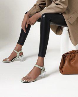 Thick High Transparent Heels Sandals