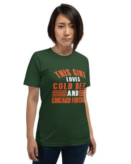 This Girl Loves Cold Beer And Chicago Football Unisex Premium T-Shirt