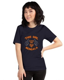 This Girl Loves Her Bengals Unisex Premium T-Shirt