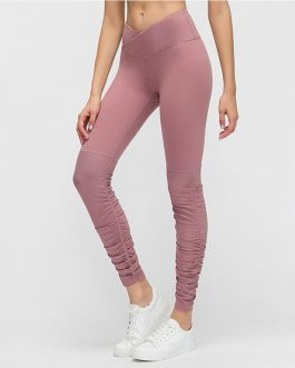 V-Cut Waist Naked Feel Workout Fitness Leggings