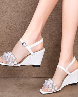 Wedges High Heels Crystal Fashion Sandals