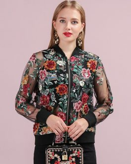 Applique Beading Embroidery Vintage Jacket