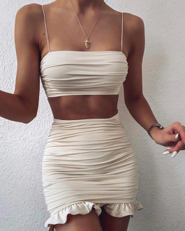Camisole Strapless Two Piece Set