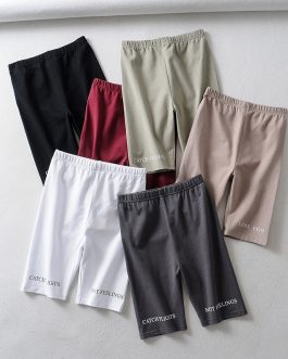 Casual Cotton High Waist Shorts Pants