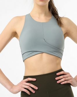 Cross Belt Shockproof Push Up Sporty Yoga Vest