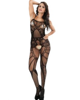 Crotchless Net Sheer Strappy Sexy Lingerie Bodystocking