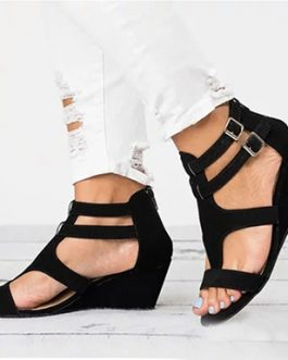 Eco-Friendly Wedges with Double Ankle Straps