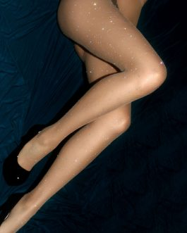 Glitter Tights Fishnet Rhinestones Net Sheer Stocking