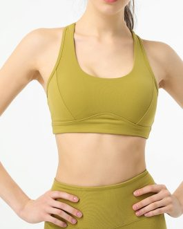 Hollow Out Shockproof Cropped Yoga Tank