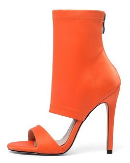 Sandals Open Toe Stiletto Heel Booties