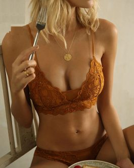 Sexy Comfortable Embroidery Bra And Panty Sets