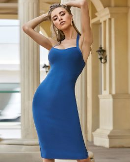 Sexy Halter Elegant Sleeveless Bodycon Dress