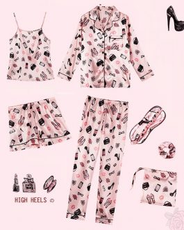 Sexy Long Sleeve Cute Pattern Sleepwear