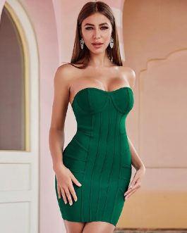 Sexy Strapless Fashion Club Bodycon Bandage Dress