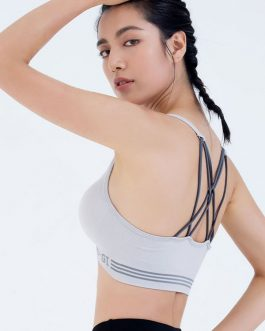 Simple Letter Print Wire Free Sports Bra