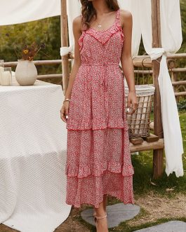 Sleeveless Printed Long Maxi Dresses