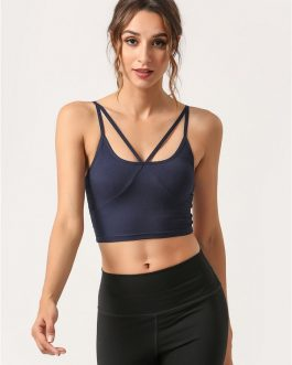 Spaghetti Strap U Neck Cropped Cami Sports Top